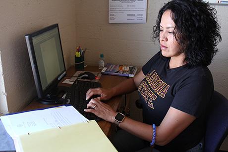 ASU student and Oz Manor intern Tasha