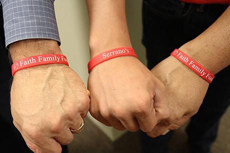 Faith, Family, Food bracelets