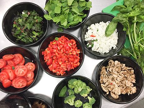 Farm-fresh vegetable frittata ingredients