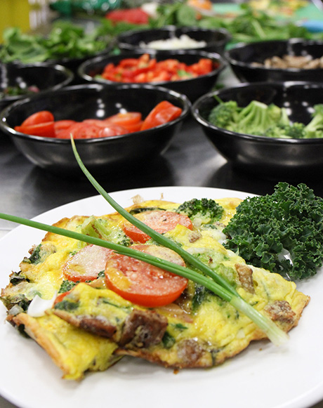 Farm-fresh vegetable frittata