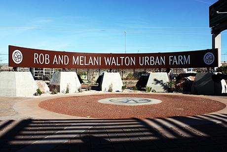 Rob and Melani Walton Urban Farm Sign