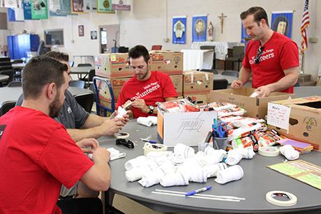 Wells Fargo employees volunteer at St. Vincent de Paul.