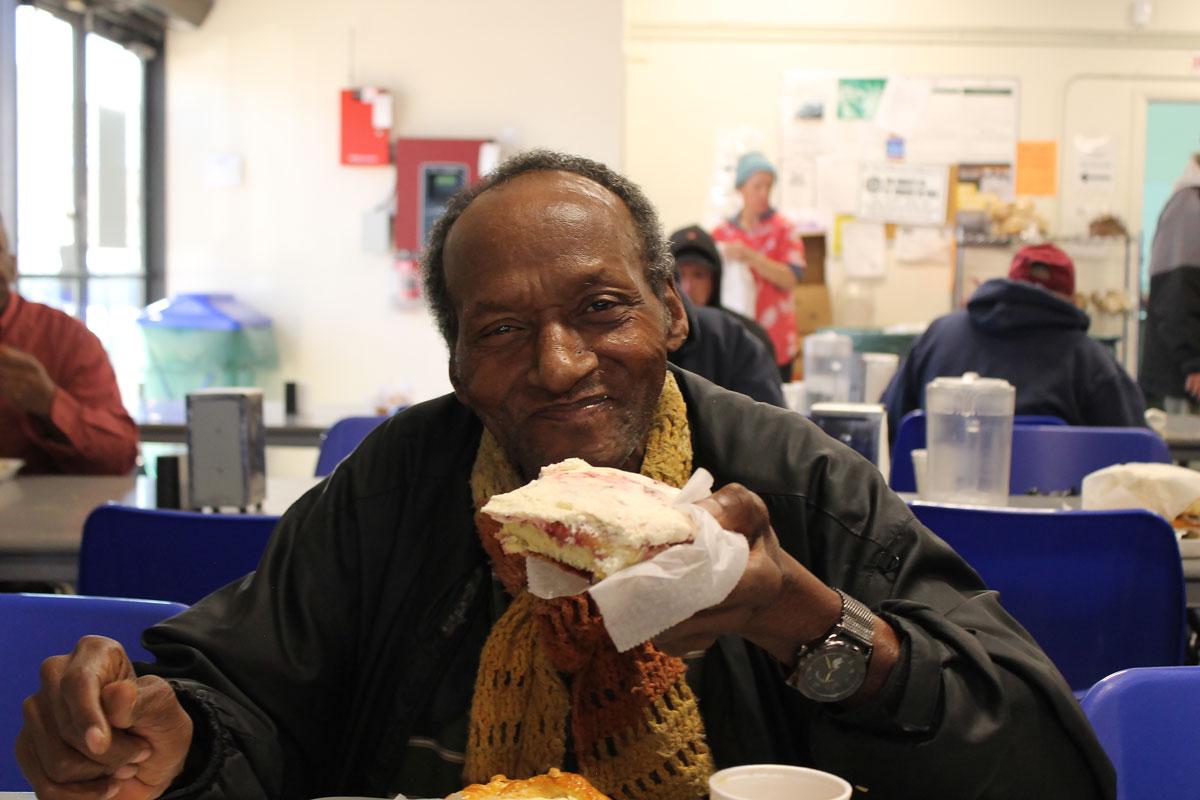 Duane Carter, a guest of SVdP's Mesa Dining Room