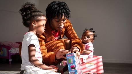 Relief arrives at a single mother's doorstep