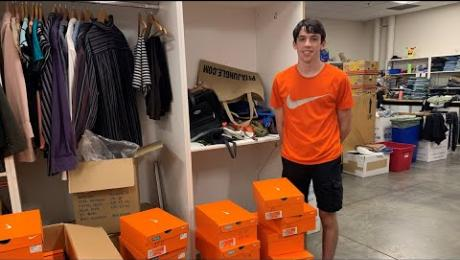 17-year-old Quinn Conway donates 250+ Nikes to SVdP homeless guests